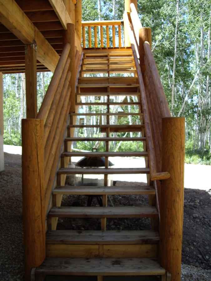 Beaver Utah Custom Cabin Builder Stairs