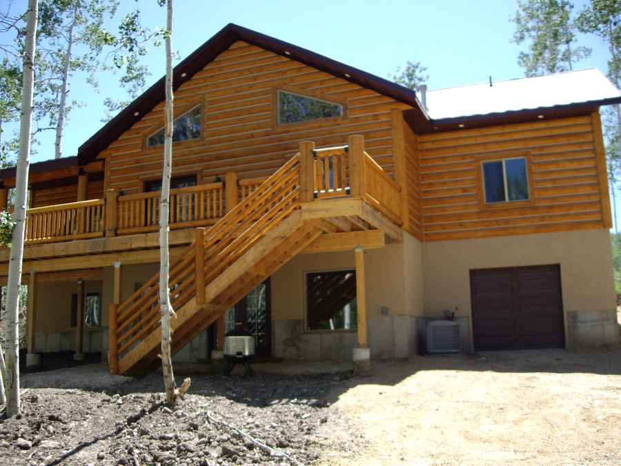 Beaver Utah Custom Cabin Builder Rear