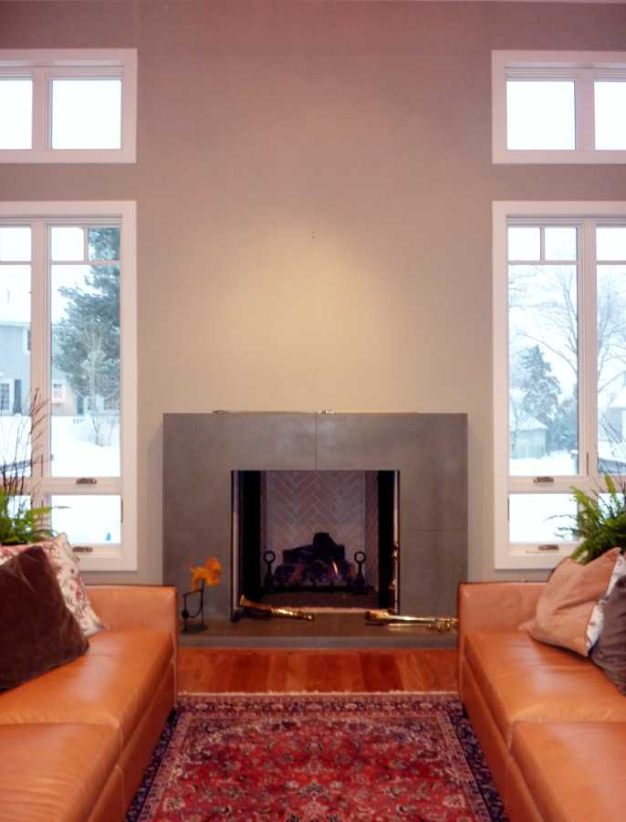 Oakwood Utah Custom Home Fireplace