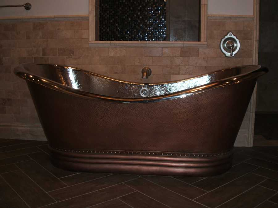 Highland Utah Home Renovation Copper Bathtub