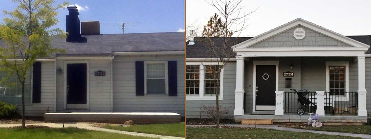 Utah Valley Exterior Renovation Before After