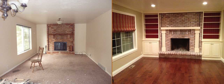 Utah Living Room Remodel Before After