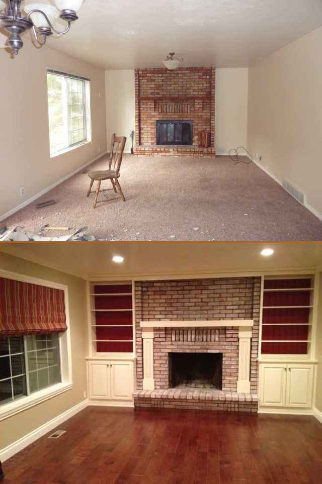Living Remodel Before After Utah Valley